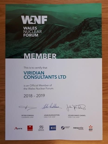 Viridian becomes member of Wales Nuclear Forum