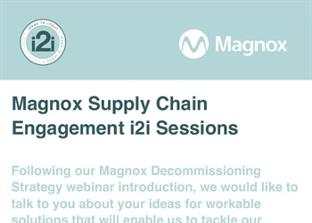 Magnox invite Viridian to an 'ideas2input' meeting